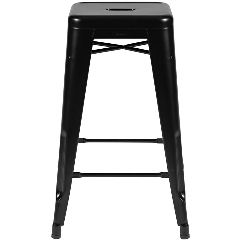 H Stool 65 in Black by Chantal Andriot & Tolix