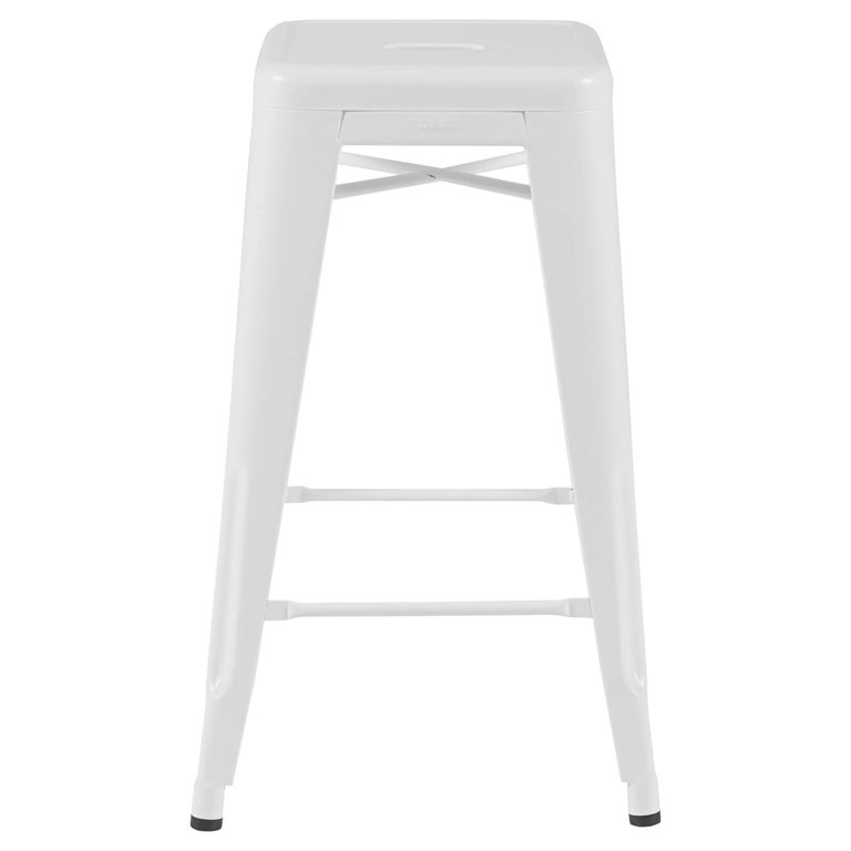 H Stool 65 in White by Chantal Andriot & Tolix