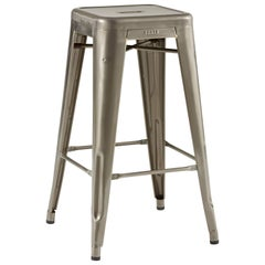 H Stool 70 in Steel with Satin Lacquer by Chantal Andriot and Tolix