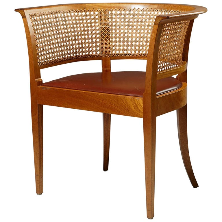 Faaborg Chair Designed by Kaare Klint for Rud. Rasmussen, Denmark, 1914 For Sale