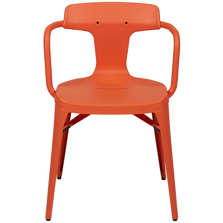 T14 Chair in Coral by Patrick Norguet and Tolix For Sale