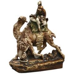 'Amphora' Figure on Camel Back with Lion, Riessner, Stellmacher & Kessel