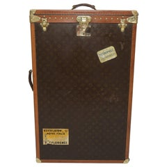 Antique Louis Vuitton Monogram Wardrobe Trunk