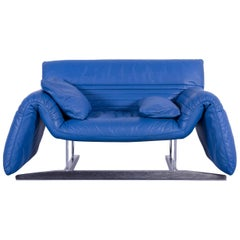 De Sede DS 142 Leather Sofa Blue One-Seat Love-Chair