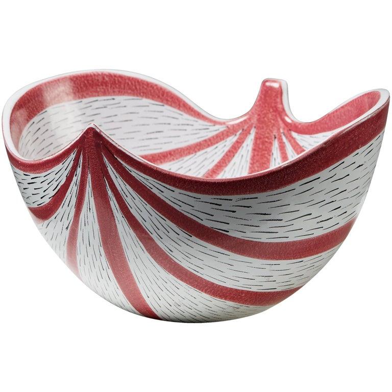 Bowl Designed by Stig Lindberg for Gustavsberg, Sweden, 1950s For Sale