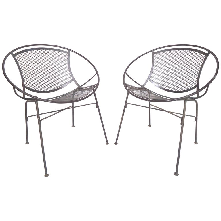 Pair of Metal 'Radar' Hoop Chairs by Tempestini