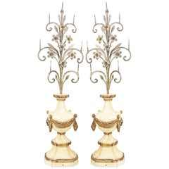 Pair of Antique Italian Candlesticks or Candleabra