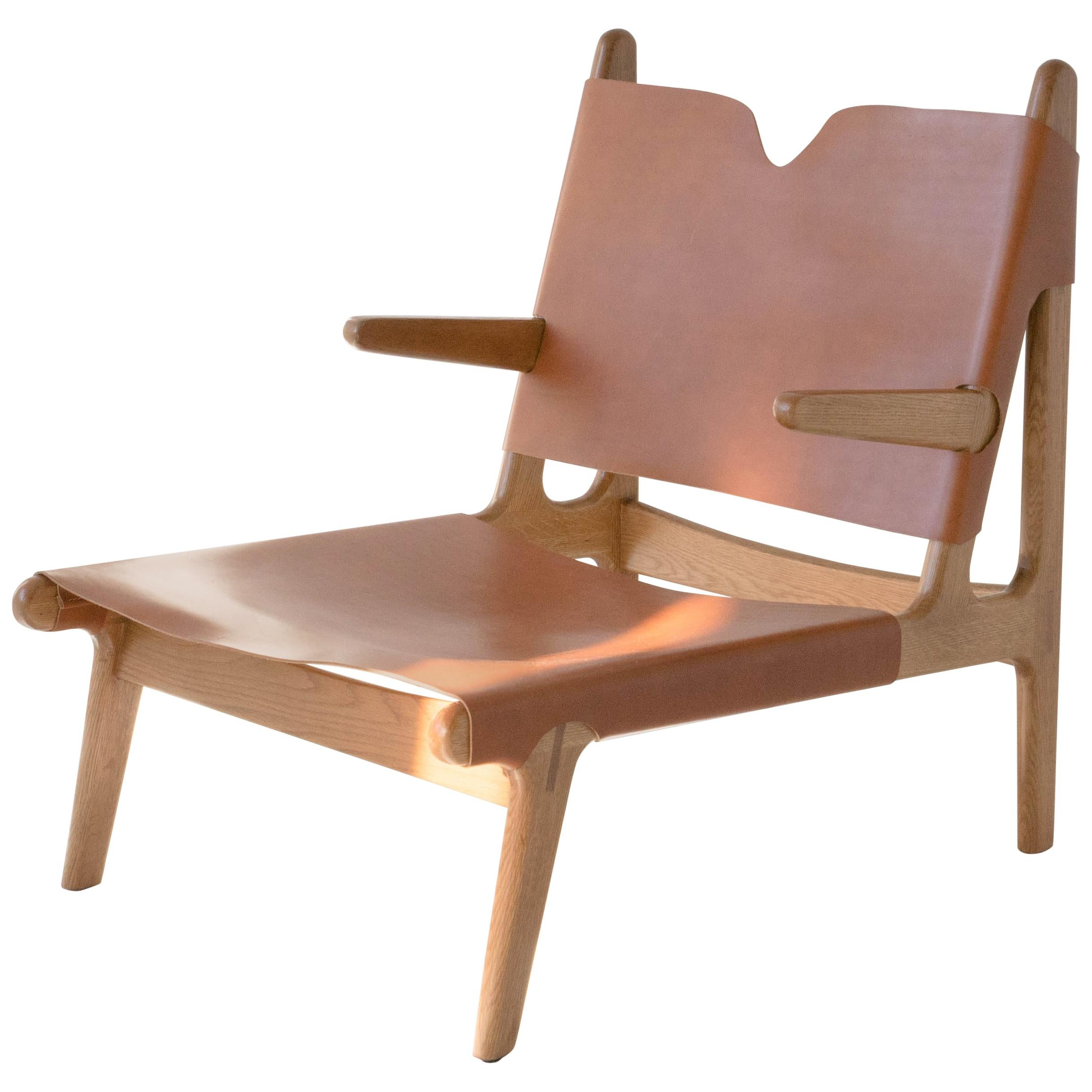 Attrayant Plume Chair By Sun At Six, Sienna Midcentury Lounge Chair In Wood, Leather