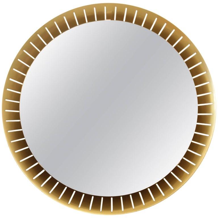 Stilnovo Brass Illuminated Mirror