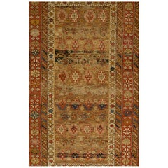 Shirvan Chi Chi  Antique Caucasian Rug Fragment for Wall