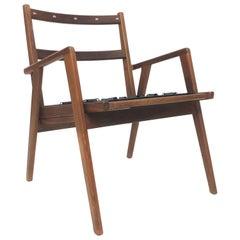 Mid-Century Danish Modern Walnut Side Chair by Mel Smilow
