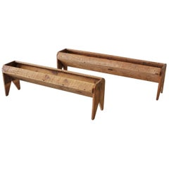 Antique Wood Trough