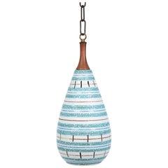 Italian Stripe Ceramic Pendant Chandelier