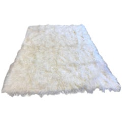 Natural White Mongolian Tibet Lamb Rug