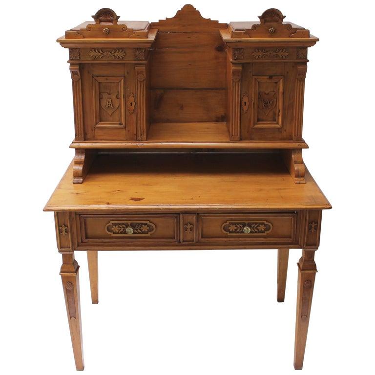 Northern European Pine Desk - Antique Pine Breadseller's Desk For Sale At 1stdibs