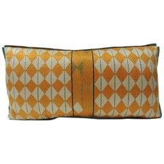 "Antique Decorative ""Phulkari"" Artisanal Antique Textile Long Bolster Pillow"