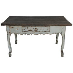 19th Century Painted One Drawer Desk