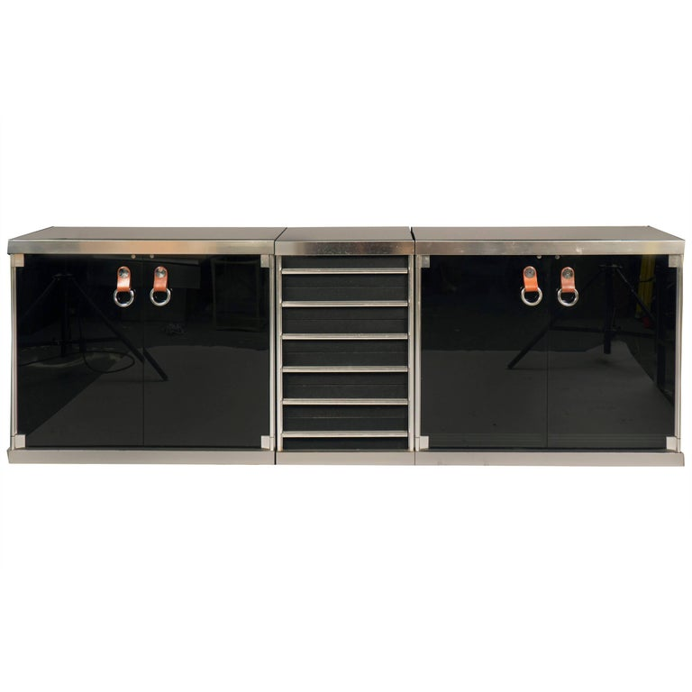 Three-Part Sideboard by Guido Faleschini for Mariani, Italy, 1970s For Sale