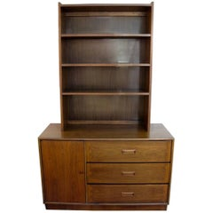 Walnut Lane Altavista Cabinet Hutch with Bookcase