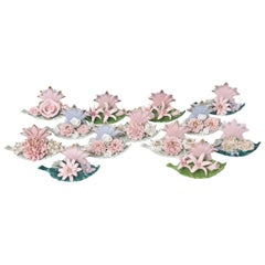 Lamore Occupied Japan Star and Flower Placecard / Place Card Holders Set of 13