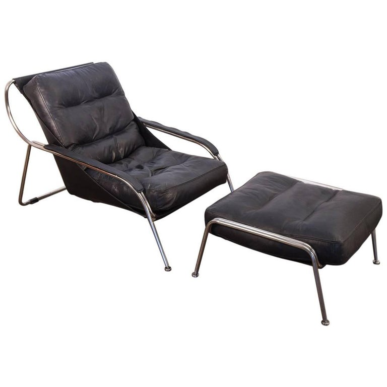 Maggiolina Lounge Chair and Ottoman by Marco Zanuso