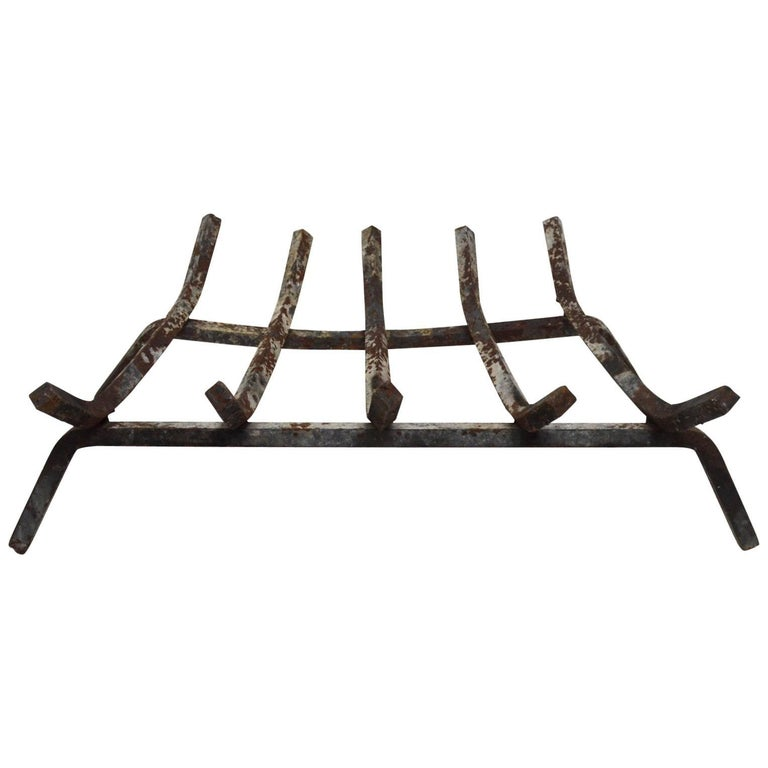 Mid Century  Fireplace Grate For Sale