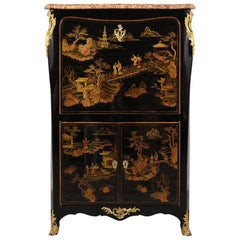 Antique French Louis XVI Chinoiserie-Style Secretaire
