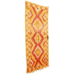 Vintage Moroccan Safran Tribal Rug