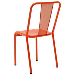 T37 Chair Perforated in Coral by Xavier Pauchard and Tolix
