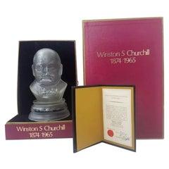 Webb Corbett for Royal Doulton Crystal Bust Sir Winston Churchill Ltd. 217/250