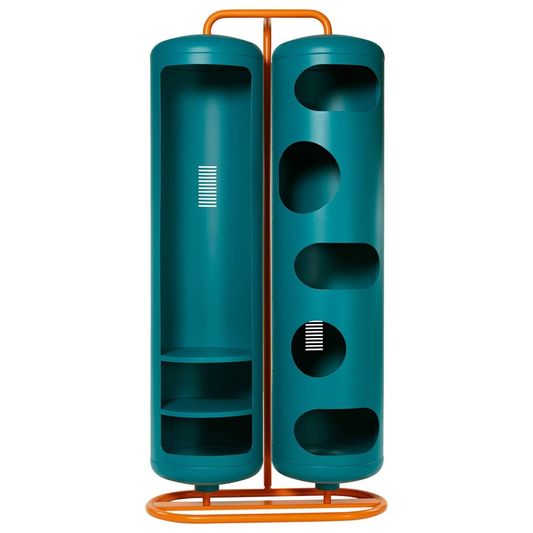 Bi-Cylinder in Teal by Frederic Gaunet and Tolix
