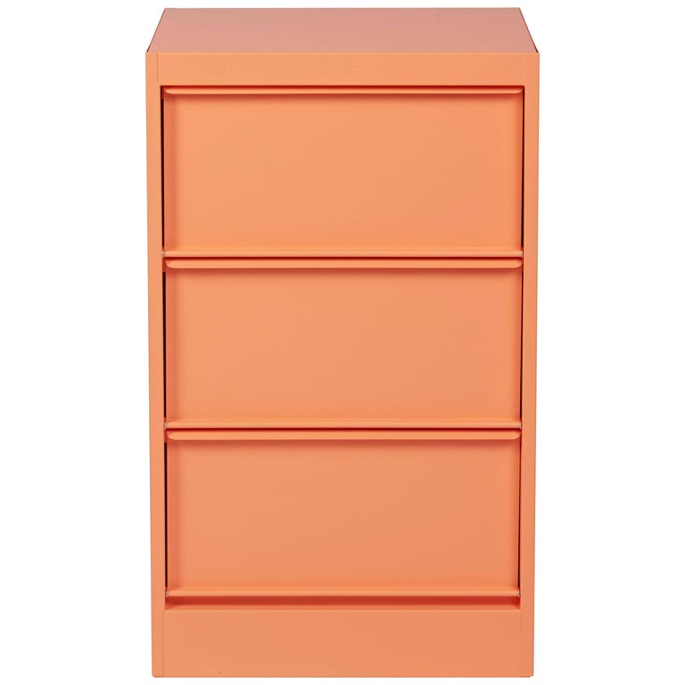 CC3 Industrial Cabinet in Flamingo Pink by Xavier Pauchard and Tolix For Sale