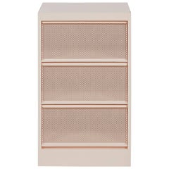 CC3 Perforated Industrial Cabinet in Powder Pink by Xavier Pauchard and Tolix