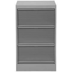 CC3 Perforated Industrial Cabinet in Textured Matte Grey by Xavier Pauchard to