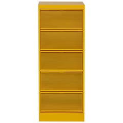 CC5 Perforated Industrial Cabinet in Mustard Yellow by Xavier Pauchard and Tolix
