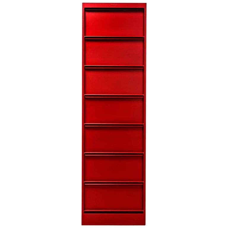 CC7 Industrial Cabinet in True Red by Xavier Pauchard and Tolix