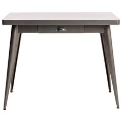 55 Console Table with Drawer in Steel by Jean Pauchard & Tolix