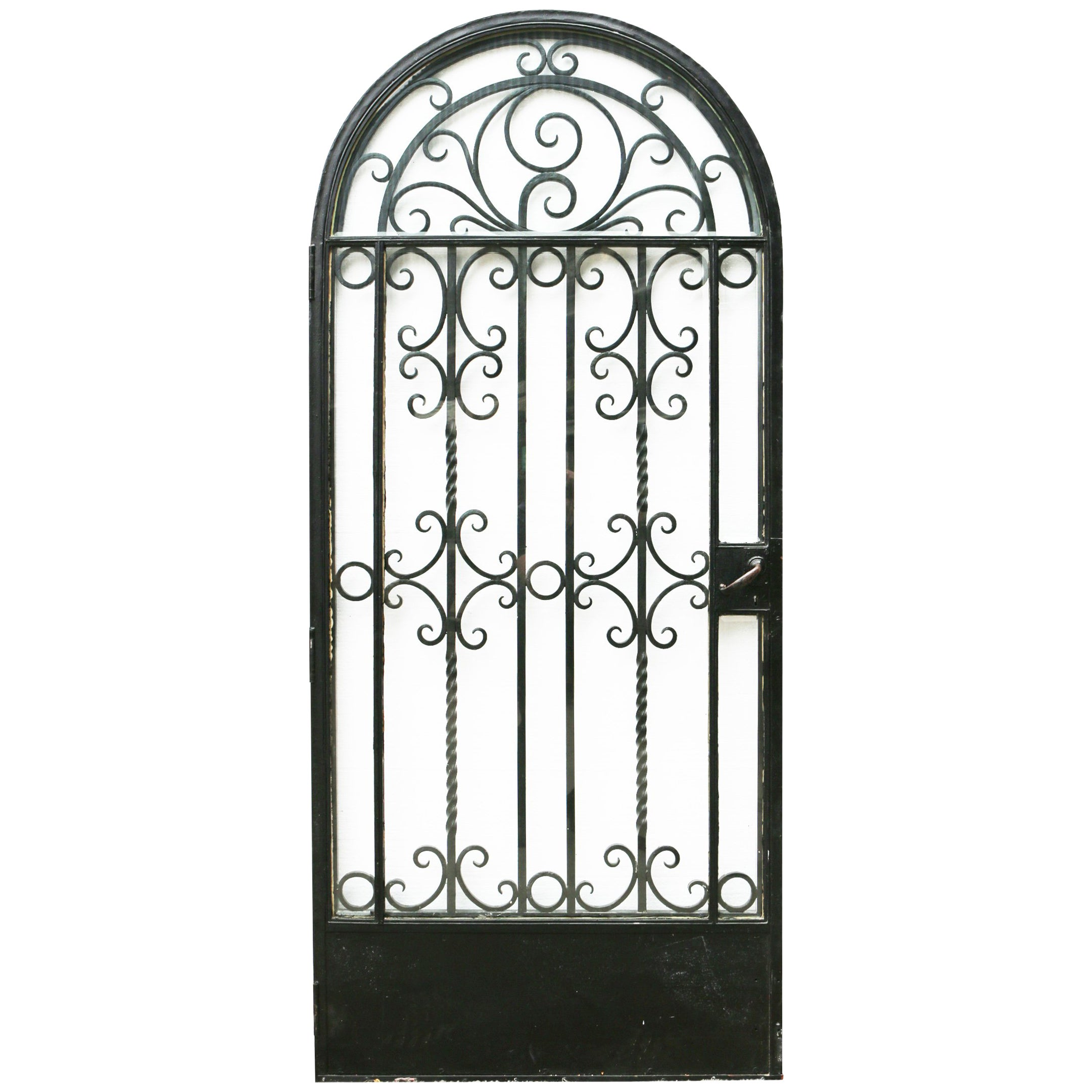 1930s Wrought Iron Arched Gate or Door