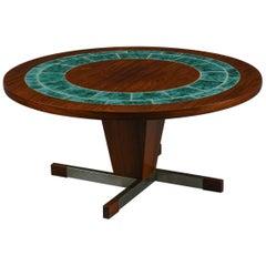 Circular Rosewood Coffee Table