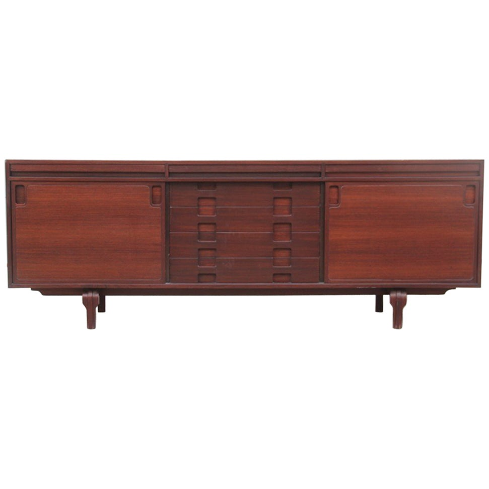 Cantieri Carrugati Sideboard Rosewood 1960s Italian Design