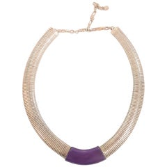 Art Deco Original Necklace by Jakob Bengel in Chrome and Galalith