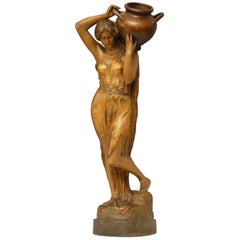 Goldscheider Art Nouveau Terracotta Figure of Water Carrier