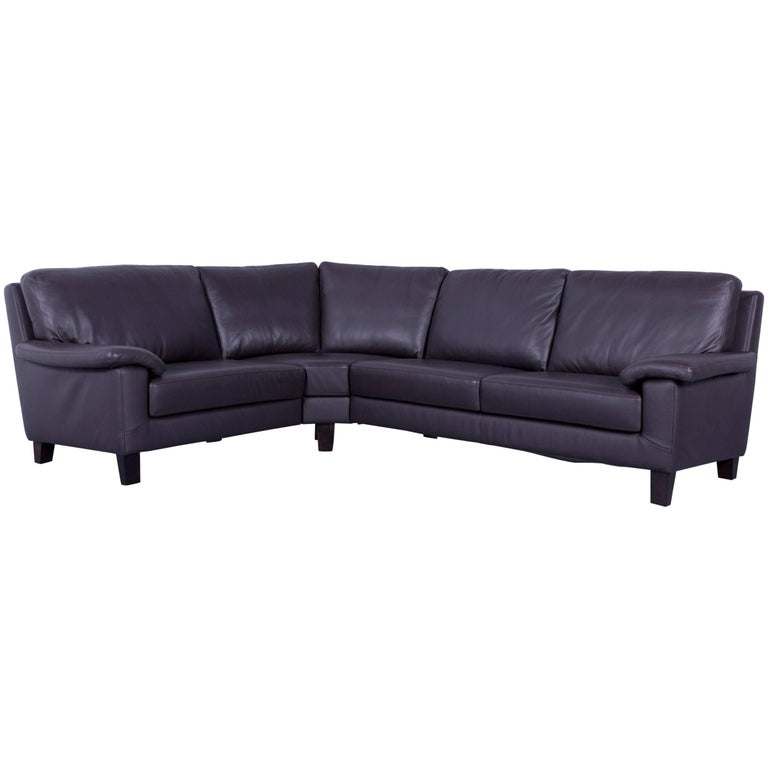 Willi Schillig Designer Leather Corner Sofa Brown Full Leather at ...