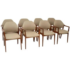 1960s Set of Eight Vintage Danish Dining Chairs in Afromosia