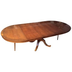 Magnificent Huge Extension Round and Oval Dining Table