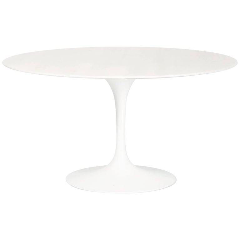 "Eero Saarinen ""Tulip"" Marble Dining Table Knoll International, 1970s"