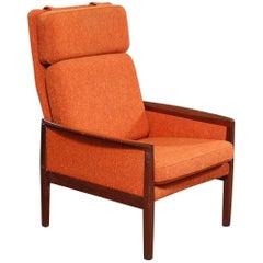 Orange Mahogany Armchair