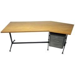 Angled Executive Desk by Tecno, Italy, circa 1960