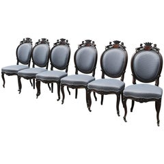 Set of Six Chairs Baroque, circa 1860