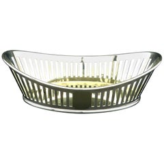 Very Good Silver Plated Bread Basket by Mappin & Webb, England Circa 1910
